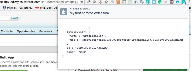 Building your own salesforce chrome extension (AngularJS)  dieffrei #Salesforce