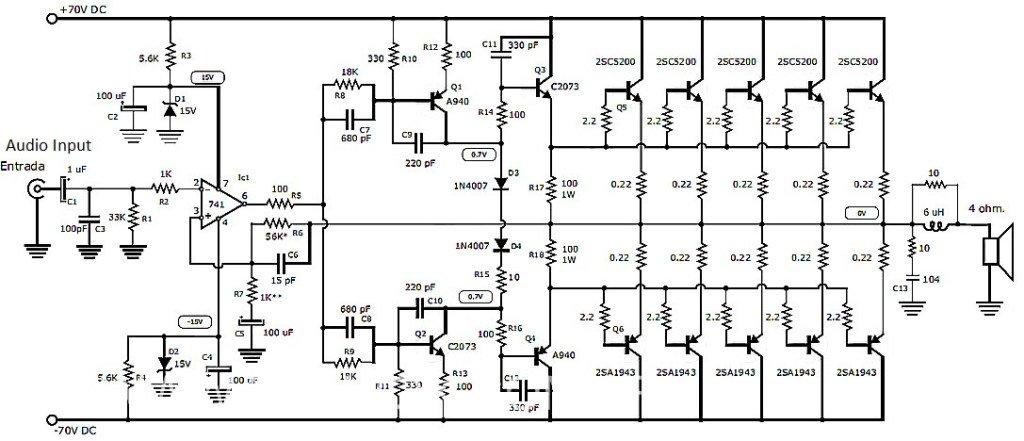 1000 Watts Amplifier Circuit Diagrams Sbmail76 Elcircuits Twitter