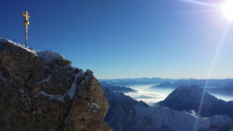 Glorious hours at the Zugspitze, 'the Top of Germany'