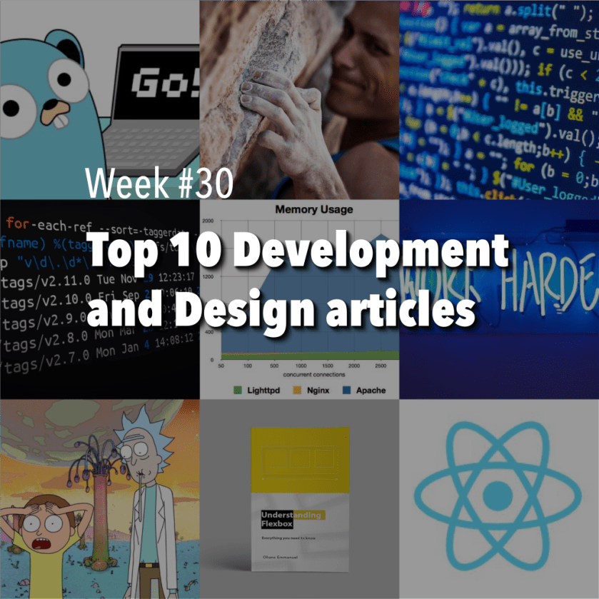 Our top10 #WebDev and #WebDesign is out with some #android, #reactjs, #golang and #git 🏆 😃