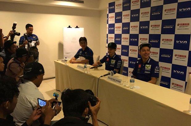 Valentino Rossi dan Maverick Vinales Telah Tiba di Jakarta