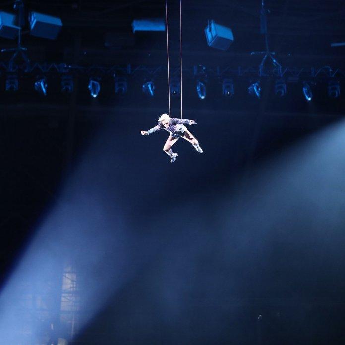 Lady Gaga en el medio tiempo del Super Bowl