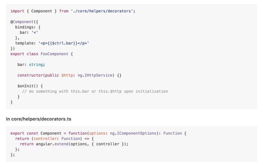An experiment to use #Angular's @Component in #AngularJs app
