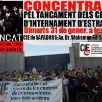 Hui @AspencatOficial #acústic #concentració @CIEsNO #València Pel tancament ja! #Valldigna