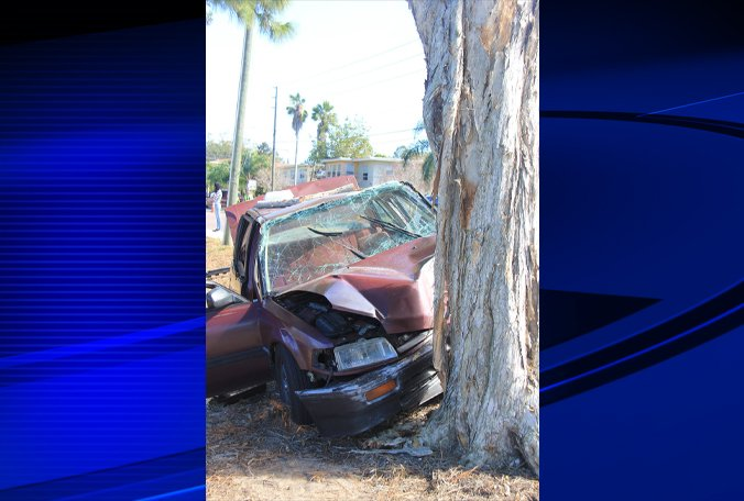 Two seriously injured in Clearwater crash; road blocked.