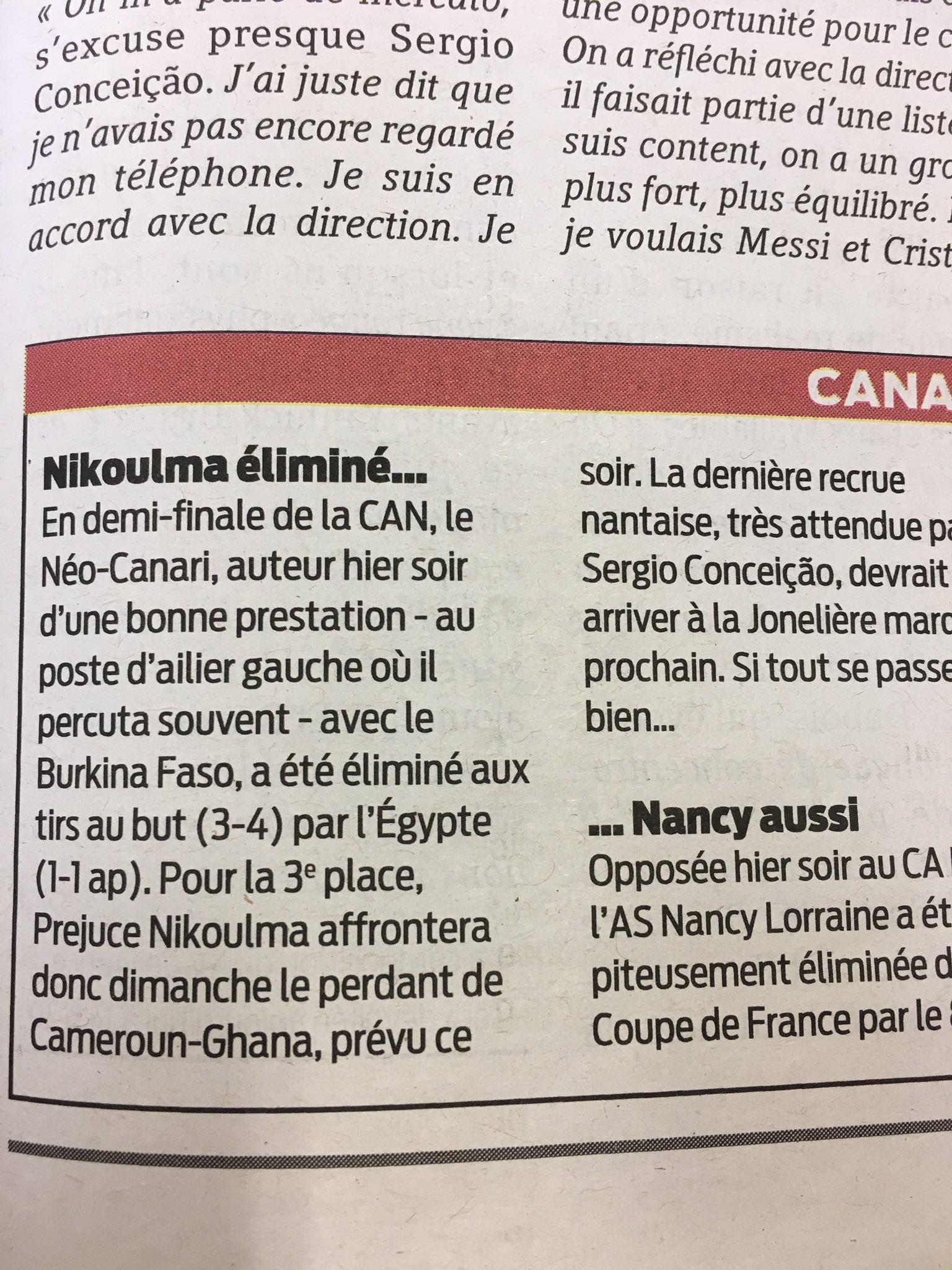 Je Suis Un Soir D été : été, Twitter:, Connais, Nikoulma!?, #Nakoulma, #FCNantes, @EtienneKiss…