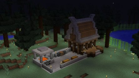 Minecraft Creations 🔥 on Twitter: Really nice blacksmith house! It has a default village feeling and it was made by Wrigzy! #Minecraft
