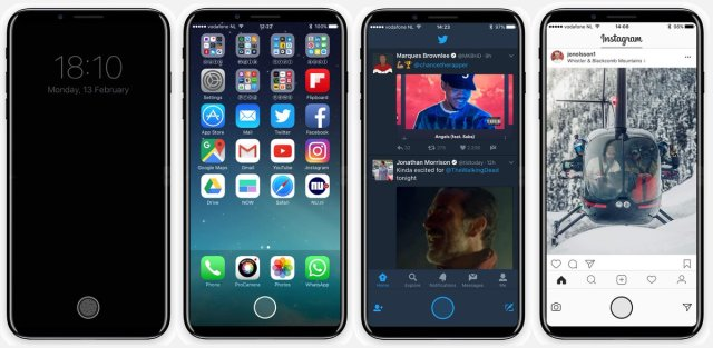 C44bCLUVUAIn1X  iPhone 8: Stunning 10 New Concept Upcoming Features With OLED Edge To Edge Display