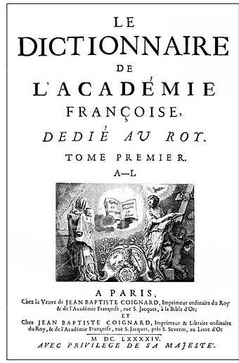 7th february, 1639: the academie francaise begins 'the
