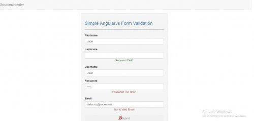AngularJS Form Validation  #AngularJS #javascript