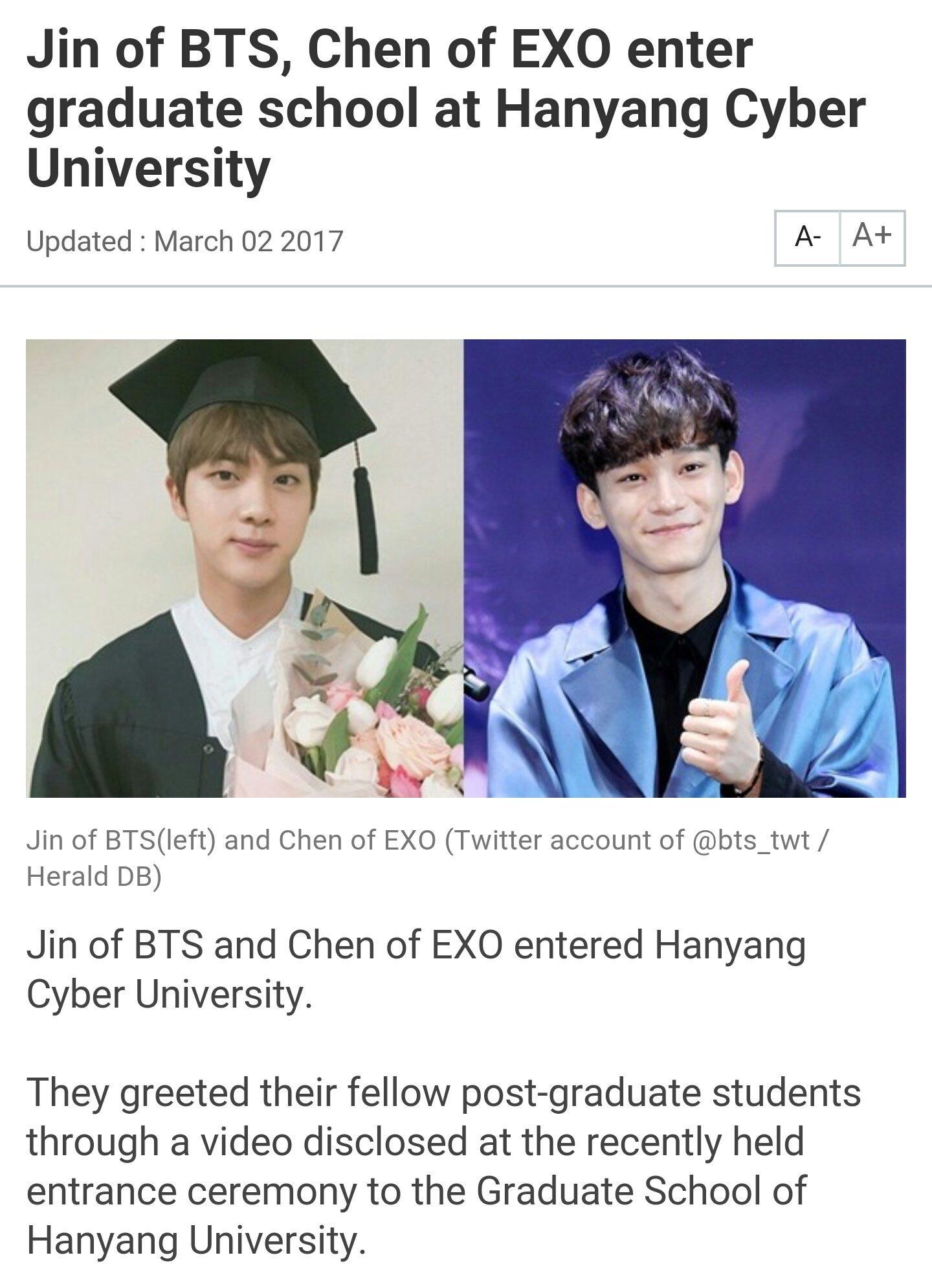 Hanyang Cyber University : hanyang, cyber, university, BTS/방탄소년단, 🇸🇬, Twitter:,