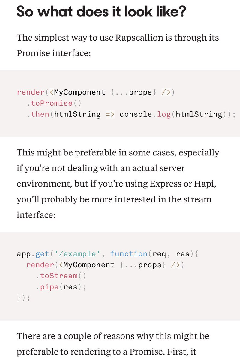 Rapscallion - a SUPER fast approach for server-side rendering React applications #reactjs