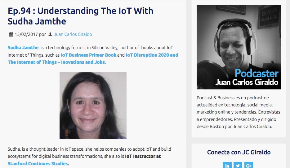 "I just published ""Podcast: Guest Speaker on  @GiraldoJC's Business Podcast — What is IoT?"""