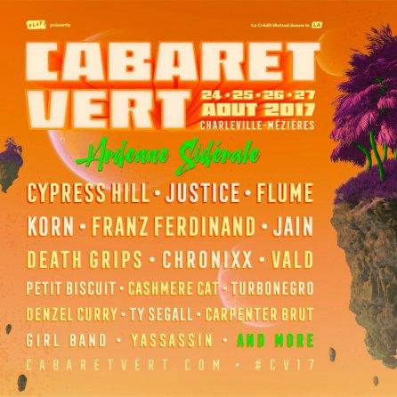 Cabaret Vert Festival 2017, France 24th - 27th August - international ...