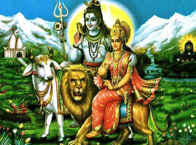 Wedding ceremony of Lord Shiva and Goddess Parvati