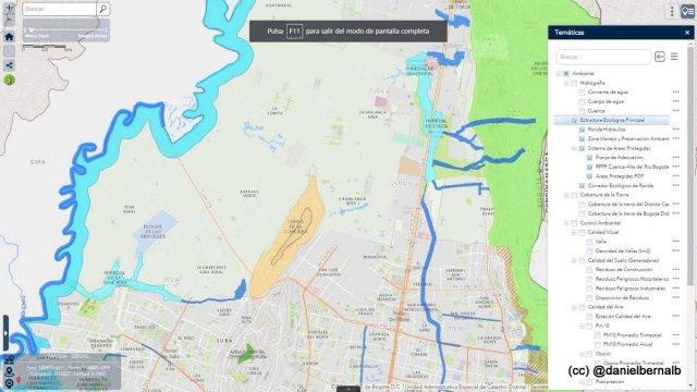 Mapa actual sin la Reserva van der Hammen