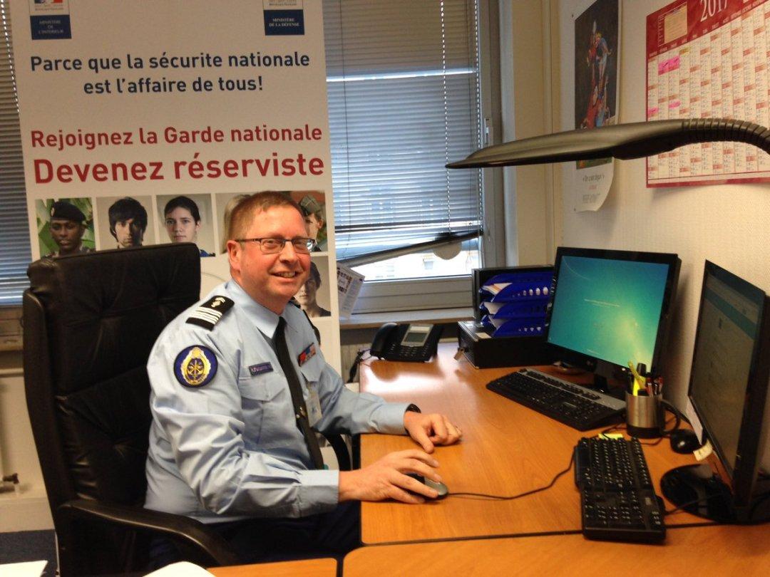 Le CEL Philippe Durand, adjoint CSRM et SGGN (image @GardeNatFR).