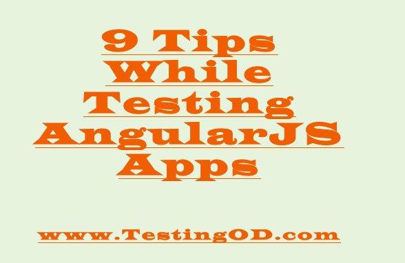 #TestingOD cool tips for testing angularjs apps. #angulartesting