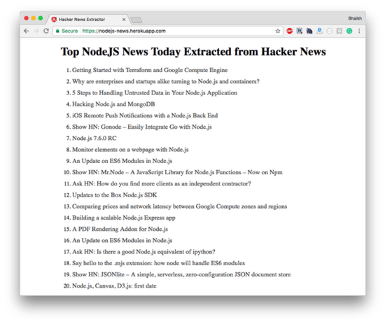 Building News App Using #HackerNews API and #AngularJS 2