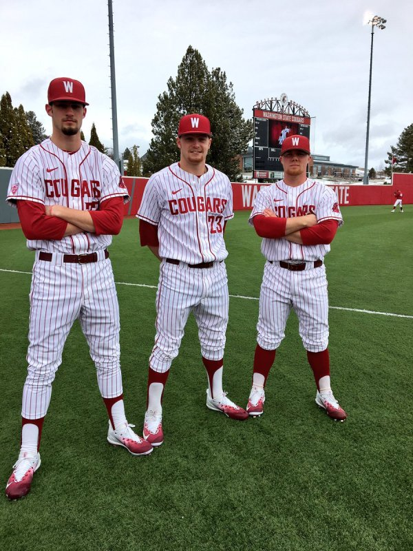 College Baseball Uniforms Pinstripe