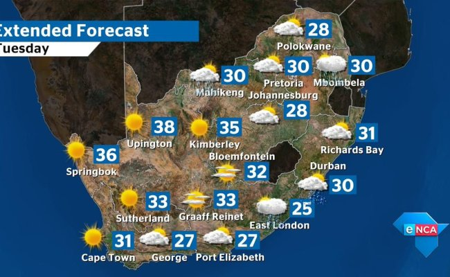 Enca On Twitter Missed The Weather Forecast For Tomorrow