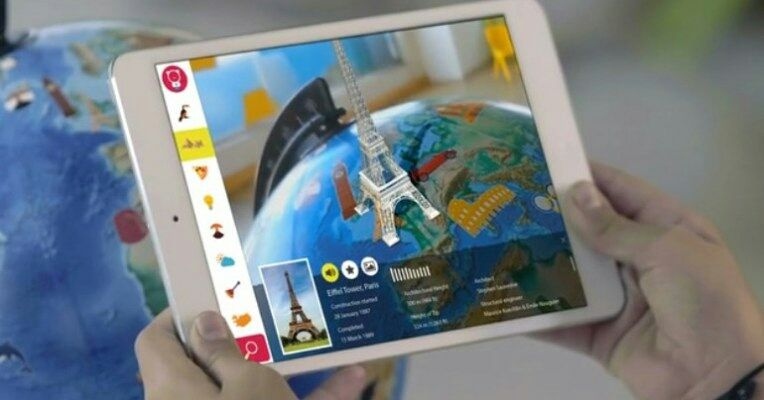 This AR-enhanced globe would be a fun addition to any iPad-equipped classroom  #ar