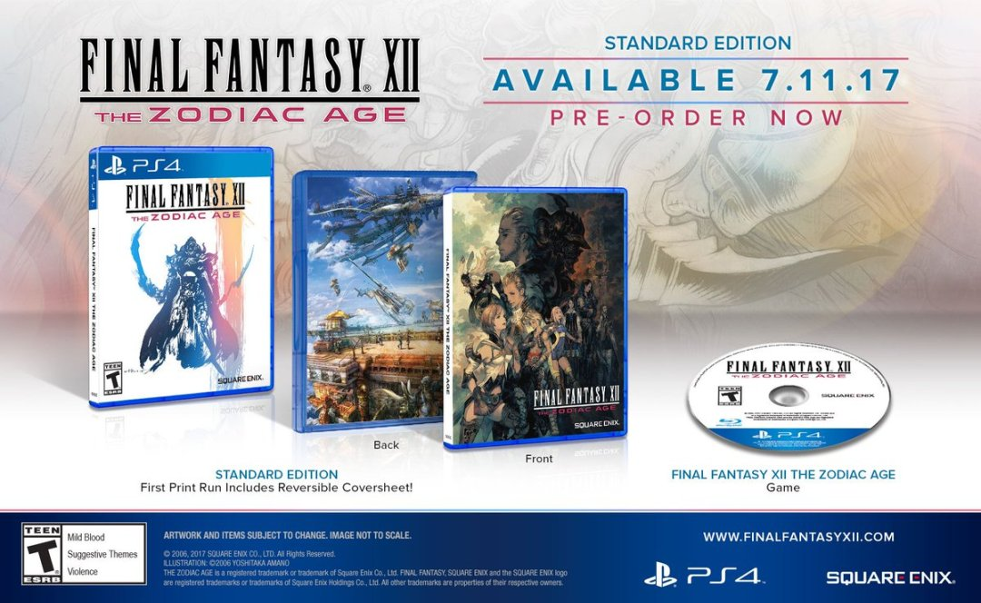 Final Fantasy XII: The Zodiac Age Special Editions Announced 6