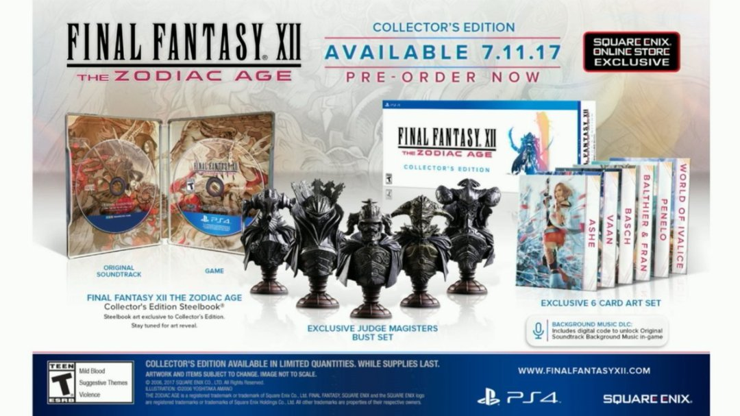 Final Fantasy XII: The Zodiac Age Special Editions Announced