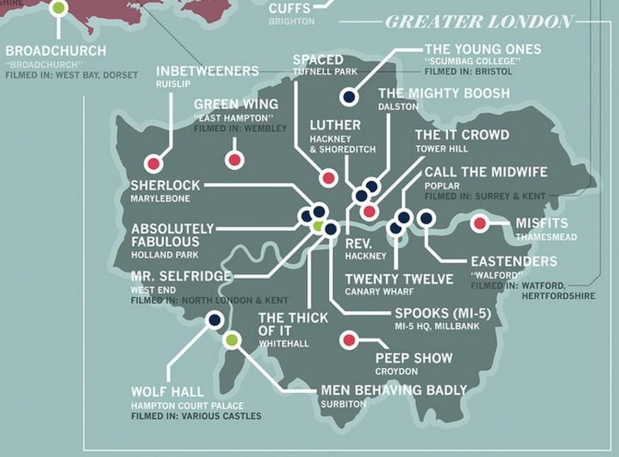 Check out this map of TV shows set in London: