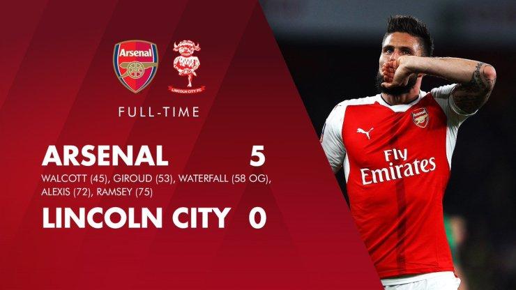 Arsenal Ruin Lincoln City FA Cup Dream 4