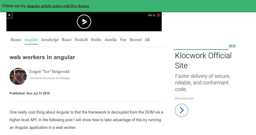 Web Workers In #AngularJS  #javascript #AppDev #webdev #devops
