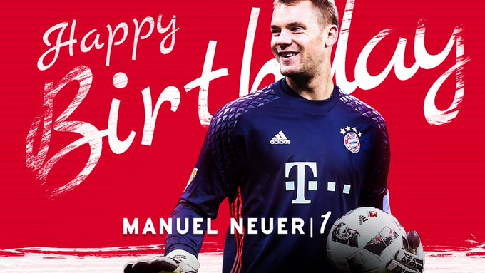 Manuel Neuer's Birthday Celebration | HappyBday.to