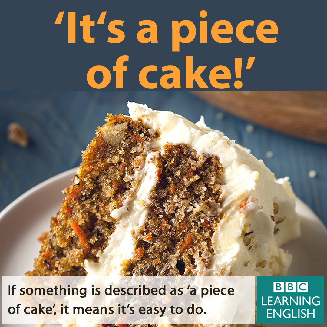 ? if something is 'a piece of cake'. then it is simple and easy to do. more: - scoopnest.com