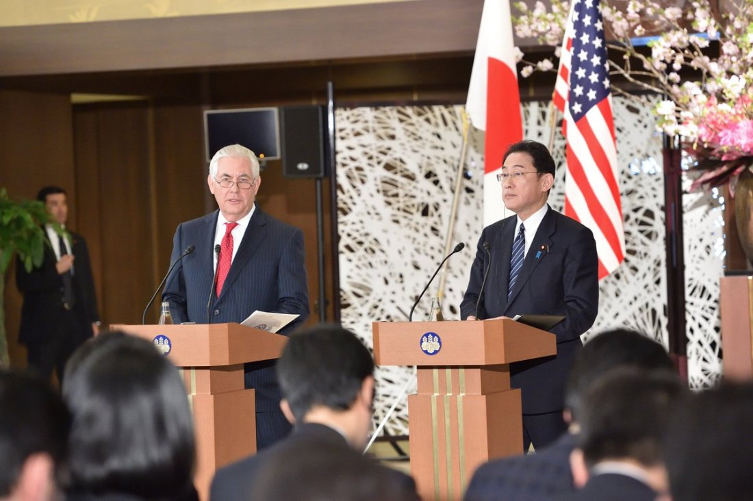 #SecState Tillerson emphasized the enduring strength of U.S.-Japan friendship during a joint press event w/ FM Kishida of @MofaJapan_en