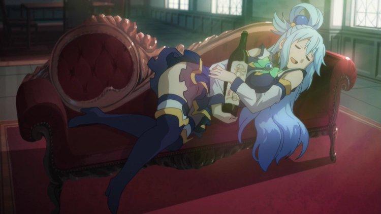 KonoSuba: God's Blessing on this Wonderful World! anime review booze