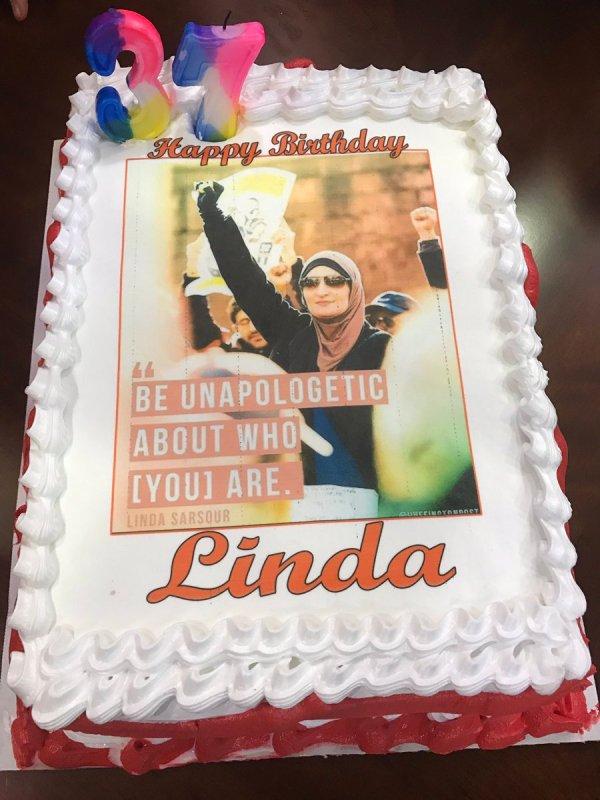 Linda Sarsour Twitter Birthday Cake