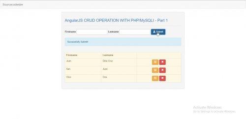 AngularJS CRUD Operation With PHP/MySQLi - Part 1    #FreeSourceCode #PHP #AngularJS