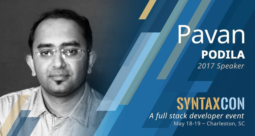 Getting to know @pavanpodila -  #NYC #chstech #syntaxcon #javascript #reactjs