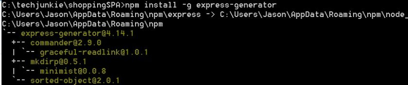 #AngularJS SPA Part 7 : Installing Express generator  #expressjs #javascript #webdev