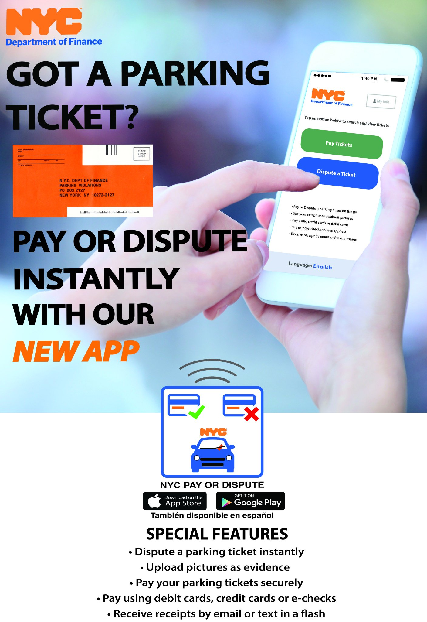 Nyc Department Of Finance Parking Violations : department, finance, parking, violations, Finance, Twitter:, Parking, Ticket, 🅿️🚘, W/ease.Download, Dispute, #nycpayordispute, Today!, Payments, Easily, Mobile, Device.…, Https://t.co/EDksLrE6IA