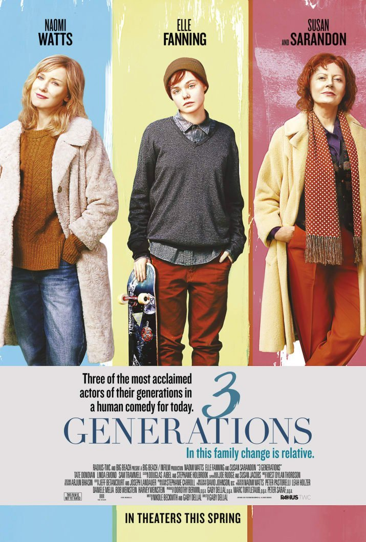 3 Generations Trailer & Poster Revealed