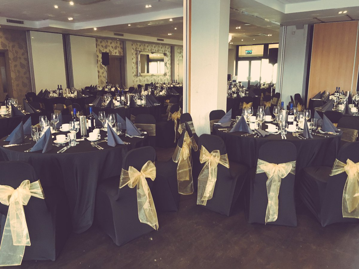 gold chair covers with black sash camping accessories hart on twitter organza sashes set up venues own for an event playgolfcol colchester eventdecor