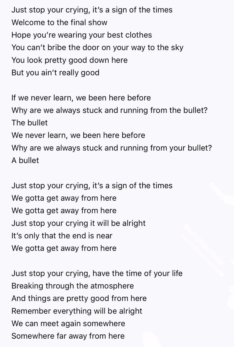 Sign Of The Times Paroles : times, paroles, Harry, Styles, France, Twitter:, Lyrics, Complets, #SignOfTheTimes…