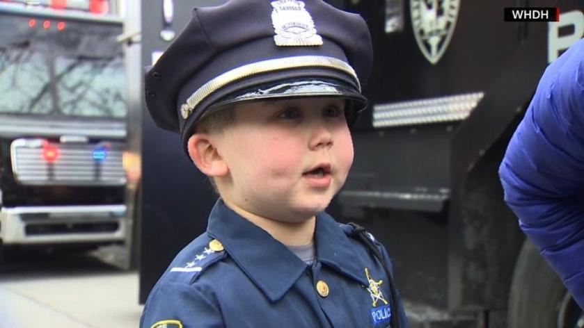 Massachusetts police rally around boy battling cancer. Mom: