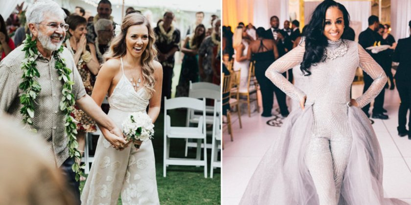 16 fierce wedding jumpsuits for brides who don't do dresses