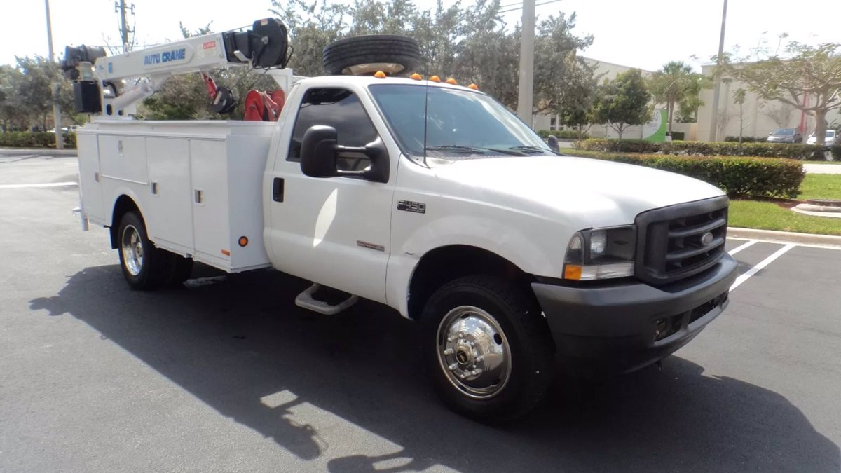 hight resolution of ajl trucks on twitter just in 2003 ford f 450 super duty utility service mechanics crane truck powerstroke diesel