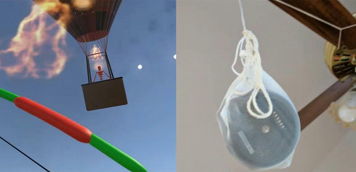 Developer Uses Vive Tracker To Battle Ceiling Fan  #vr