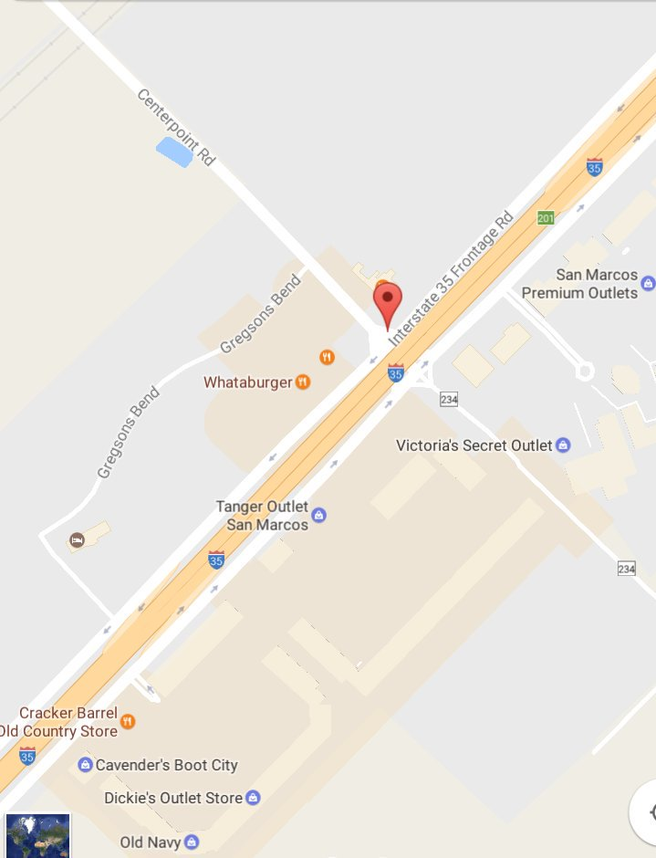 Tanger Outlets San Marcos Map : tanger, outlets, marcos, County, Weather, Twitter:,