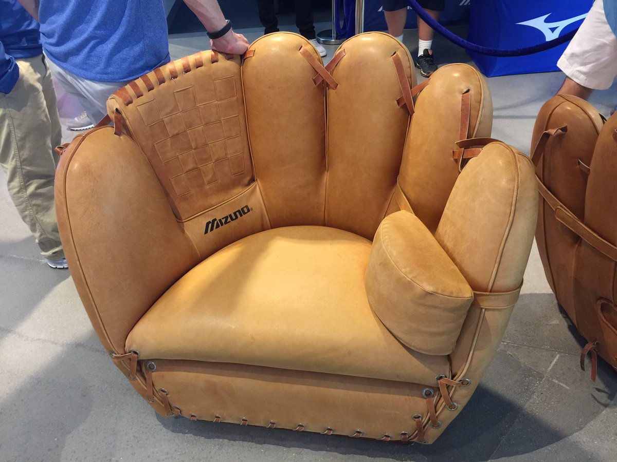 baseball glove chair home goods papa san mizuno is now selling chairs 7 500 and big gloves