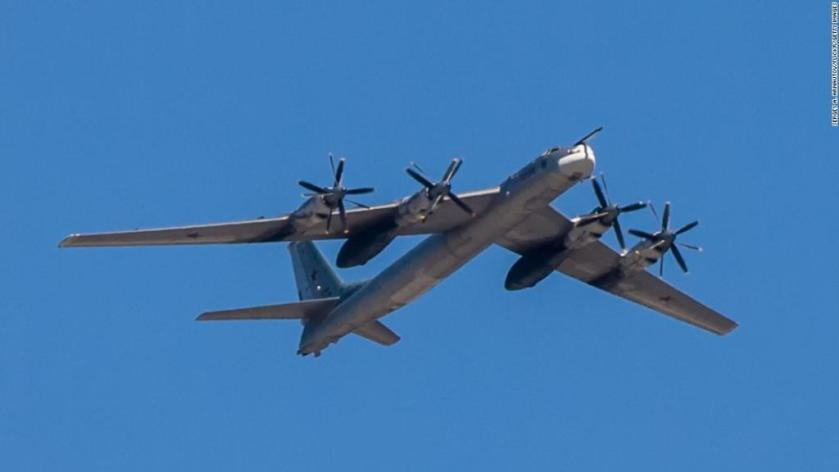 Russian bombers were spotted off the coast of Alaska for the second time in 24 hours